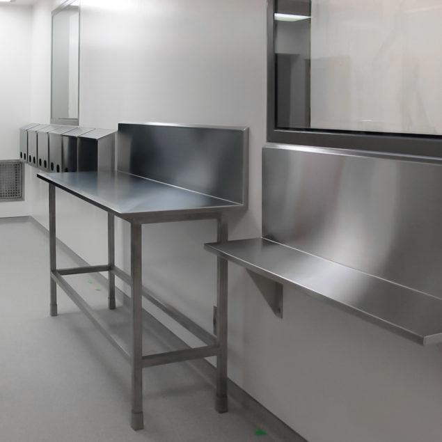 Comptoirs de laboratoire en acier inoxydable