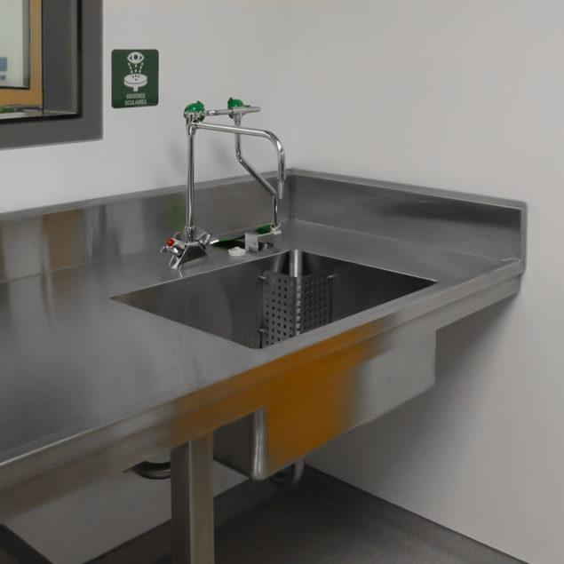 Comptoir d'hôpital en acier Inoxydable